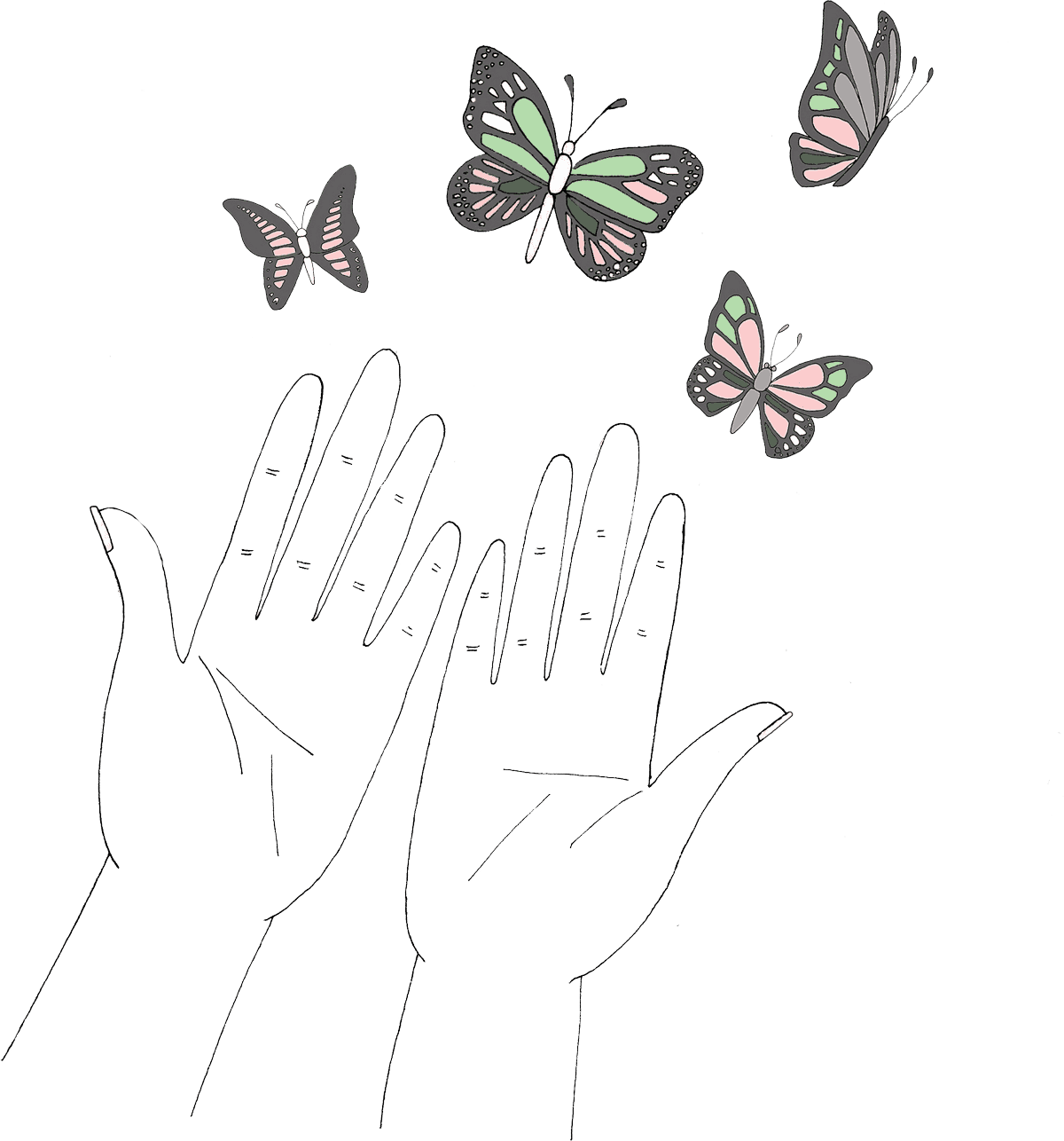 hands-butterflies